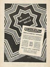 Y1202 LINOLEUM - Il pavimento ideale - Pubblicità 1930 - Advertising