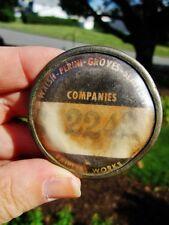 1951 Walsh Perini Groves Slattery RARE Badge Builder US Steel FAIRLESS WORKS PA