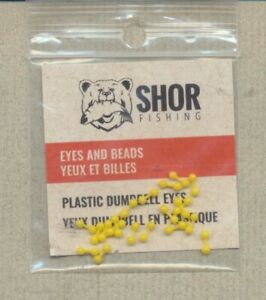 Plastic Dumbbell Eyes - yellow - medium NYE3Y