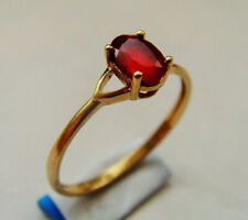 9ct Gold Ruby Solitaire Ring U.K Size N 1/2 Hallmarked
