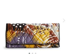Vera Bradley Trifold Wallet in Painted Feathers NWT Retail $42 FREE SHIPPING