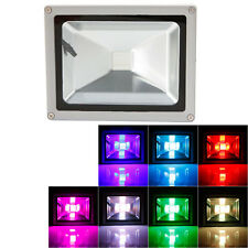 5Pack 20W Rgb Waterproof Garden Outdoor Led Flood Light Remote Control Memory