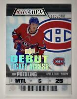 2019-20 Credentials Debut Ticket Access Acetate #RTA-1 Ryan Poehling RC /299