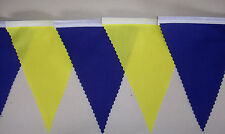 FOOTBALL BUNTING YELLOW & BLUE FABRIC BANNER FLAGS SWEDEN DECORATION 2mt OR MORE