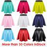 Women Mini Skirt Girl Satin Short Dress Pleated Retro Elastic Waist 27 Colors