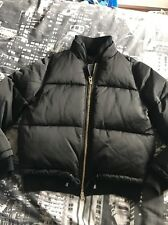Womens Ladies TOPSHOP Black Bomber Puffer Puffa Jacket Coat Size 10 Petite