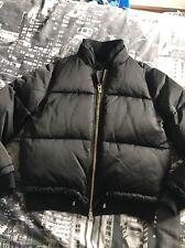 Womens Ladies TOPSHOP Black Bomber Puffer Puffa Jacket Coat Size 10 Petite