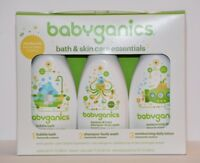 3p Gift Set Babyganic Bath Skin Care Essentials Shampoo Body Wash Lotion Bubble