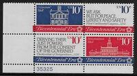 US Scott #1543-46, Plate Block #35325 1974 Continental Congress 10c FVF MNH LL