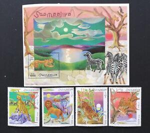 Somalia-1998-Wildlife -4 Stamps+ 1 S/Sh., MNH**, SOM 069C