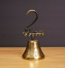 Vintage Brass Railroad Train Themed Shopkeepers Bell Made In West Germany