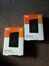 2 Brand new boxes WD My Passport 2TB