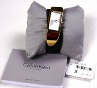 $499 Brand New Women Calvin Klein Watches K3C236G6 BROWN EMBODY