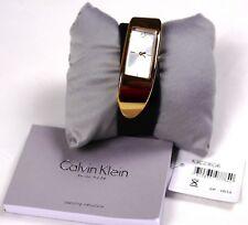 $499 Brand New Women Calvin Klein Watches K3C236G6 BROWN EMBODY