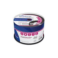 2x MR226] 100 x Mediarange CD-R vinyl printable black dye Bedruckbar 52x Rohling