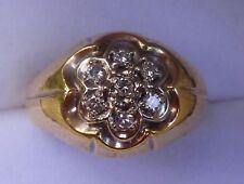 14kt MEN'S DIAMOND GYPSY CLUSTER RING ½ CARAT NATURAL DIAMOND
