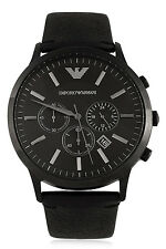 EMPORIO ARMANI STAINLESS STEEL BLACK CHRONOGRAPH MEN WATCH AR2461