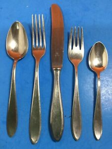 WMF CROMARGAN GERMANY - STUART - 5 PIECES - STAINLESS FLATWARE FORK SPOON