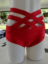 Shorts / Hotpants with Double criss cross strap great for pole dancing, Beach