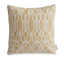 WATERPROOF OUTDOOR Cushion Cover Sand/Beige Geometric Moroccan Patio Pillow