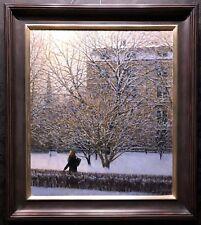 "WILLIAM P. DUFFY Original Oil on Canvas Painting ""Winter Soft Light"", COA"