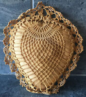 Antique Vintage Crocheted Lace Sachet VERY OLD Beautiful WONDERFUL CONDITION
