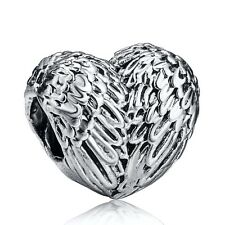 Heart With Wings Hot Design 925 Sterling Silver European Bead Charm Fit Bracelet