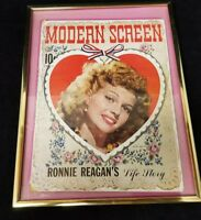 Modern Screen Movie Magazine Rita Hayworth Cover March 1943 Ronnie Reagan Frame