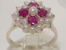 Pearl Sterling Silver Ruby Fine Jewellery