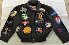 Jeff Hamilton Harwood Classics Leather Trim Vintage ABA Jacket Grey XL NWOT NBA