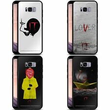 OFFICIAL IT MOVIE GRAPHICS BLACK HYBRID GLASS BACK CASE FOR SAMSUNG PHONES