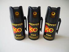 3 x Ballistol Pfeffer-KO FOG Pfefferspray Tierabwehr KO Spray Schutzspray 40 g