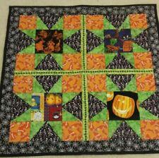 """Handmade  Halloween Quilt~Wall Hanging~Pumpkin Ghosts-27""""x 27"""""""