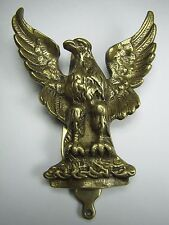 Old Brass Spread Winged Eagle Door Knocker nicely detailed perched bird England