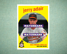 Jerry Adair Baltimore Orioles 1959 Style Custom Baseball Art Card