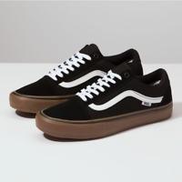 VANS - Old Skool Pro - Black / White / Medium Gum - VN000ZD4BW9 $65
