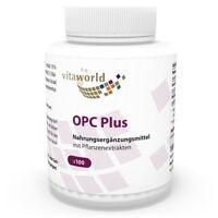 Vita World OPC plus 200mg 100 Veggi Kapseln Resveratrol Antioxidant Reines OPC