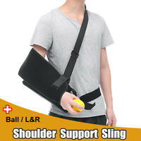 Adjustable Shoulder Support Broken Arm Sling Brace Abduction Pillow Pain  SU