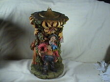 "Vintage Hand Carved Johann Gunter Candle Man Playing Squeeze Box Large 14"" Tall"