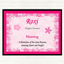 Roxi Name Meaning Mouse Mat Pad Pink