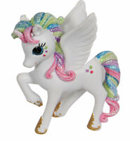 Rainbow Pegasus Unicorn Figurine with Glitter - 9cms high - AU Seller