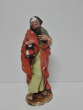 Antigua Figura Religiosa de Escayola APOSTOL CON LAMPARA Años 70 España - 23cm