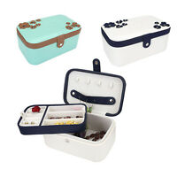 Two Layer PU Leather Travel Jewelry Box Storage Organizer Earring Necklace Case