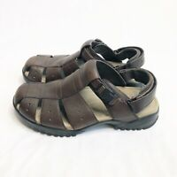 Teva Gain Brown Leather Fisherman Sport Sandals Men's Size 12
