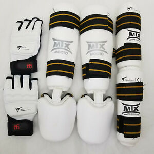 MTX Mooto MMA TKD Sparring Gear Kit Shin/Instep, Arm Guards, Gloves Adult M