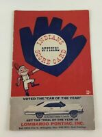 Vintage 1965 Cleveland Indians Official Score Card Chief Wahoo Advertising Book