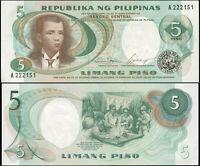 FILIPINAS BILLETE 5 PISO. ND (1969) LUJO. Cat# P.143a