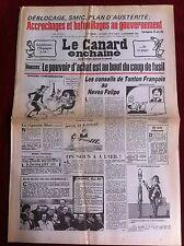 Le Canard Enchainé 3/11/1982; Déblocage, Smic, plan d'austérité... bafouillages