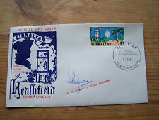 GIBRALTAR,1967,FDC SIGNED BY THE STAMP DESIGNER.A.G RYMAN., NICE.