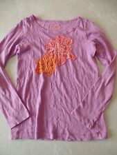girls CREW CUTS COLLECTIBLE T L/S SHIRT purple coral FLOWERS pretty! SIZE 12